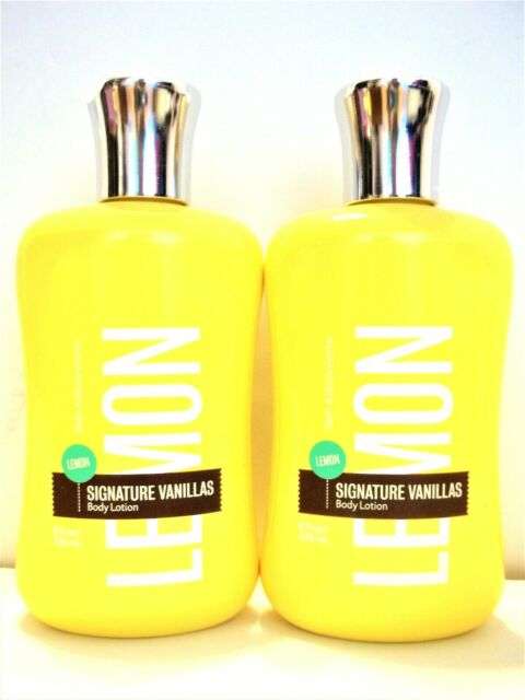 Bath Body Works Signature Vanillas LEMON Body Lotion 8 oz/236 mL, NEW x 2