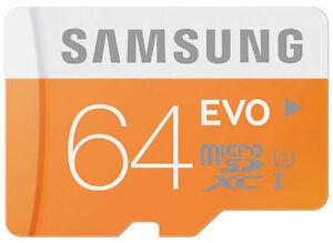 Samsung-Micro-SDXC-64GB-EVO-UHS-I-Grade-1-Class-10-Speicherkarte