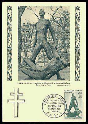 Kunst & Kultur FäHig France Mk 1964 Widerstand Resistance Denkmal Maximumkarte Mc Cm Ae28 Supplement Die Vitalenergie Und NäHren Yin