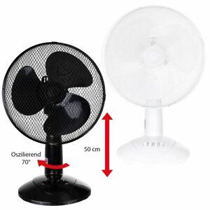 XXL-Ventilateur-de-Table-Ventilateur-30cm-3-Vitesses-Oscillation-50cm-45Watt