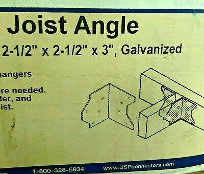"Qty 50 JA3 JOIST ANGLE 2.5/"" x 2.5/"" x 3/"" Galvanized Mitek USP LUMBER CONNECTOR"