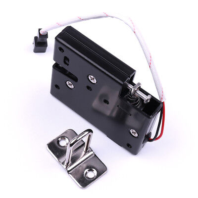 Black Iron Secure Electric Door Release Rim Mortice Lock DC12V Cabinet Lock