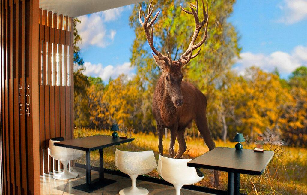 3D Robust Deer 753 Wall Paper Murals Wall Print Wall Wallpaper Mural AU Kyra