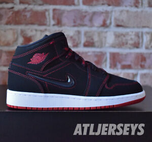 Details about Nike Air Jordan 1 Mid Fearless GS Black Gym Red White CU6617-062 Size