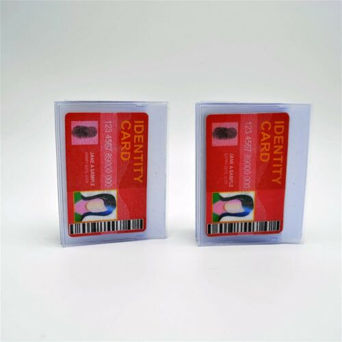 Set of 2 Perfect Fit Plastic Wallet Insert Replacement Picture Card Holder 6 Pge