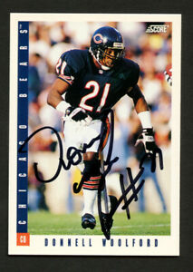 Donnell Woolford #56 signed autograph auto 1993 Score Football Trading Card