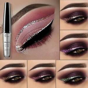 Impermeable-Color-Brillo-Metalico-Brillante-Maquillaje-Sombra-de-Ojos-Delineador-liquido-brillo