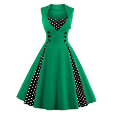 Vintage Polka Dot 50's ROCKABILLY Swing Pin Up Housewife Retro Dress Plus Size *