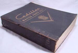 Vintage 1951 Cadillac Master Parts List Dealer Catalog ...