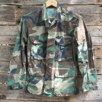 Dynamisch Herren Us Militär Camouflage Bdu Waldland Coat-shirt Xs Shorts 8415-01-084-1639 GroßE Sorten