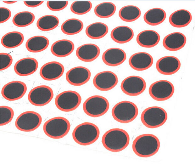 Puncture Repair 48pcs 25mm Round Rubber Patch Bicycle Bike Cycle Tire Tyre Piece