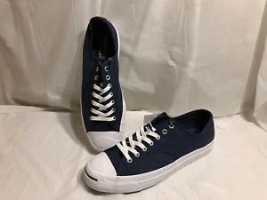 f92aa3b7cb5c Size 10 Converse Jack Purcell Signature Navy Blue Canvas Men s Low ...