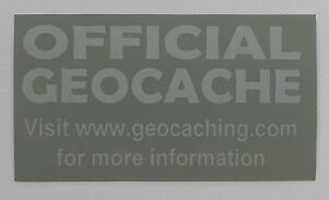 10-x-Cache-stickers-for-Geocaching-gray-print-on-gray-sticker