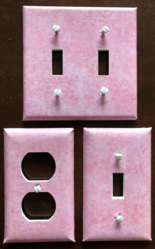 PINK LIGHT SWITCH COVER PLATES OUTLET SPONGED LOOK WALL DECOR U PICK THE SIZE