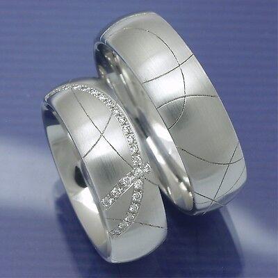 2019 Mode Eheringe | Hochzeitsringe | Trauringe Mit Lasermuster 585 Weißgold P7142449traur Weniger Teuer