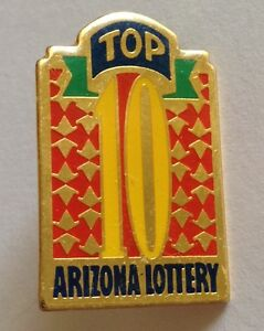 Arizona Lottery Top 10 Pin Badge Rare Vintage Gambing (G1