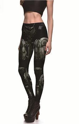Woman legging Armor Robot Animation Machine printed legging S-4XL Slim legging
