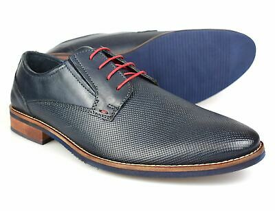 Silver Street Wilson Marineblaues Leder Herren Formelle Schuhe Herrenschuhe