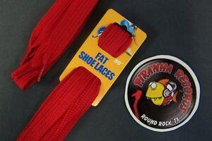 Red-Fat-Flat-50-034-x-5-8-034-3-4-034-JN-Shoelaces-Shoe-Strings-Piranha-Records