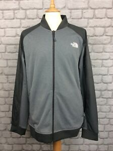 2fa60ead8 Details about THE NORTH FACE MENS UK XXL GREY TECH BOMBER JACKET TRACK TOP  CASUAL ACTIVEWEAR