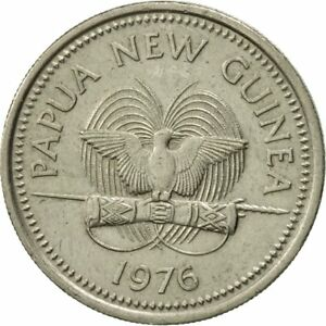[#425202] Papua New Guinea, 10 Toea, 1976, EF(40-45), Copper-nickel, KM:4 - France - Composition: Copper-nickel Year: 1976 - France