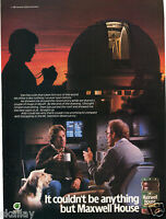 1986 Print Ad of Maxwell House Coffee Mt Hamilton Observatory