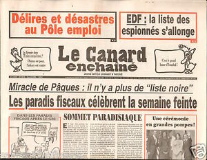 CANARD-ENCHAINE-Birthday-Newspaper-JOURNAL-NAISSANCE-8-AVRIL-APRIL-2009