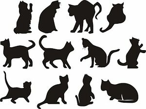 Superb Image Is Loading CATS Wall Art Stickers Decals Many Colours 4