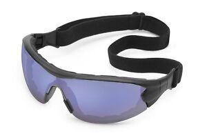 Gateway Swap Blue Mirror Anti Fog Foam Padded Safety Glasses Hybrid Goggles Sun
