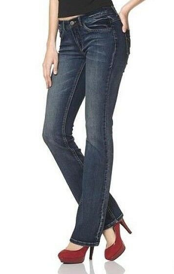 Arizona Svasati Push Up Jeans Gr.38 L32 Denim Elasticizzati Metà bluee
