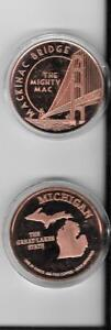 """From da UP 1.5/"""" YOOPER MOOSE COIN 1 Ounce of PURE copper with case"""
