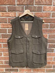 Jeremiah-Porter-Wool-Herringbone-Vest-Size-Large