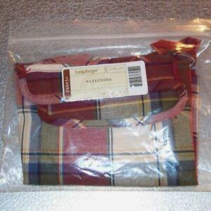Longaberger-Paprika-Plaid-WEEKENDER-Basket-Liner-Brand-New-in-Original-Bag