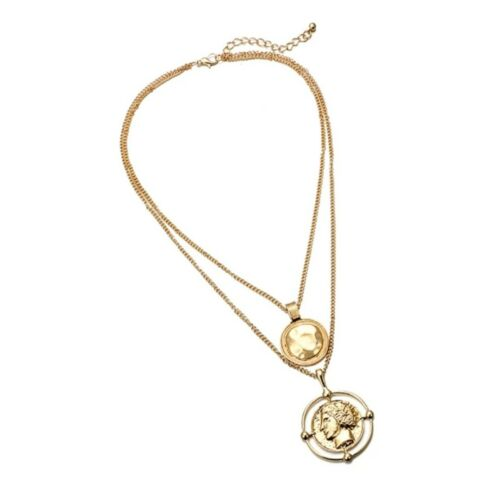 Gold Double Layer Roman Coin Necklace Mango Other Bloggers Stories Trend