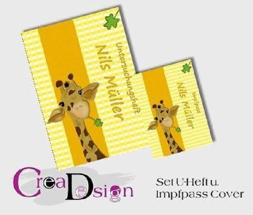 Untersuchungsheft U-Heft Hülle Taufe  Geburt Geschenk Giraffe Set Impfpass u