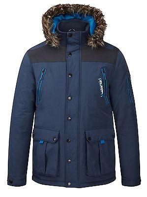 Rawcraft New Men's Padded Winter Jackets Outdoor Warm Hooded Parka Coats