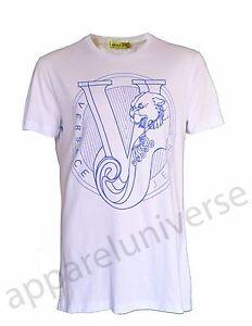 9b5d73c6 BNWT VERSACE JEANS VJ LOGO TIGER T-SHIRT PALE BLUE TOP SIZE LARGE | eBay