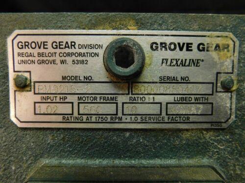 GROVE GEAR FlexALine BMQ215-2 10:1-1.02 HP Input Speed Reducer