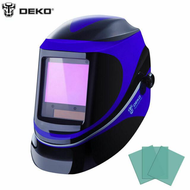 Solar Powered Welding Helmet Auto Darkening Hood for Mig Tig Arc Welder Mask DEKO Welding Helmet Replacement Lens