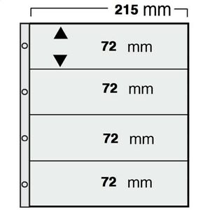 50 x SAMMELHÜLLEN Prospekthüllen Kartenhüllen 120 my 2 Taschen DIN A5 glasklar