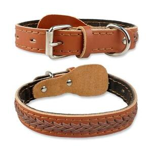 Genuine Leather Pet Collar Dog Cat Training Collar Cow