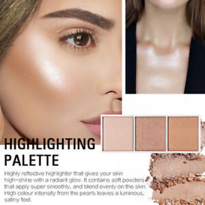 Image is loading SACE-LADY-Highlighter-Palette-Makeup-Face-Shimmer-Contour-