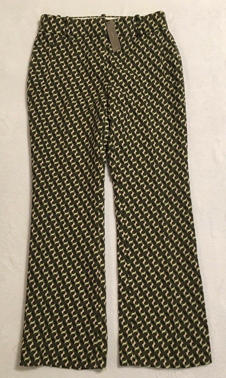 NWT JCREW Collection Cropped Wool Pant In Ratti Geometric Tile Print Size4 F6867