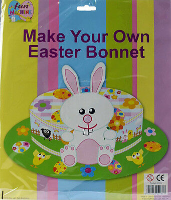 CARDBOARD Make Your Own Childs Easter Bonnet Kit - Complete Set Ready To Use!