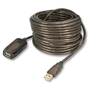 CAVO DI PROLUNGA / ESTENSIONE USB 2.0 da 20 metri ATTIVO con EXTENDER INTEGRATO