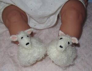PRINTED-KNITTING-INSTRUCTIONS-BABY-SHEEP-SHOES-ANIMAL-BOOTIES-KNITTING-PATTERN