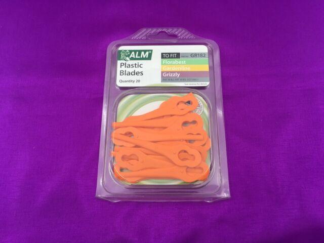 GR182 Alm Cuchillas de Plástico Lidl Florabest Frta 20 A1 Vonhaus 20V Hilo para