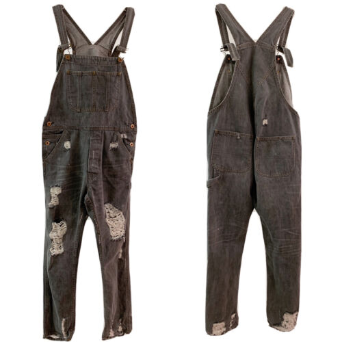 pre-owned womens vintage emanuel denim jumpsuit 70s|women jumpsuit|overalls bib and brace|italy seawear|jumpsuit vintage look|jeans jumpsuit
