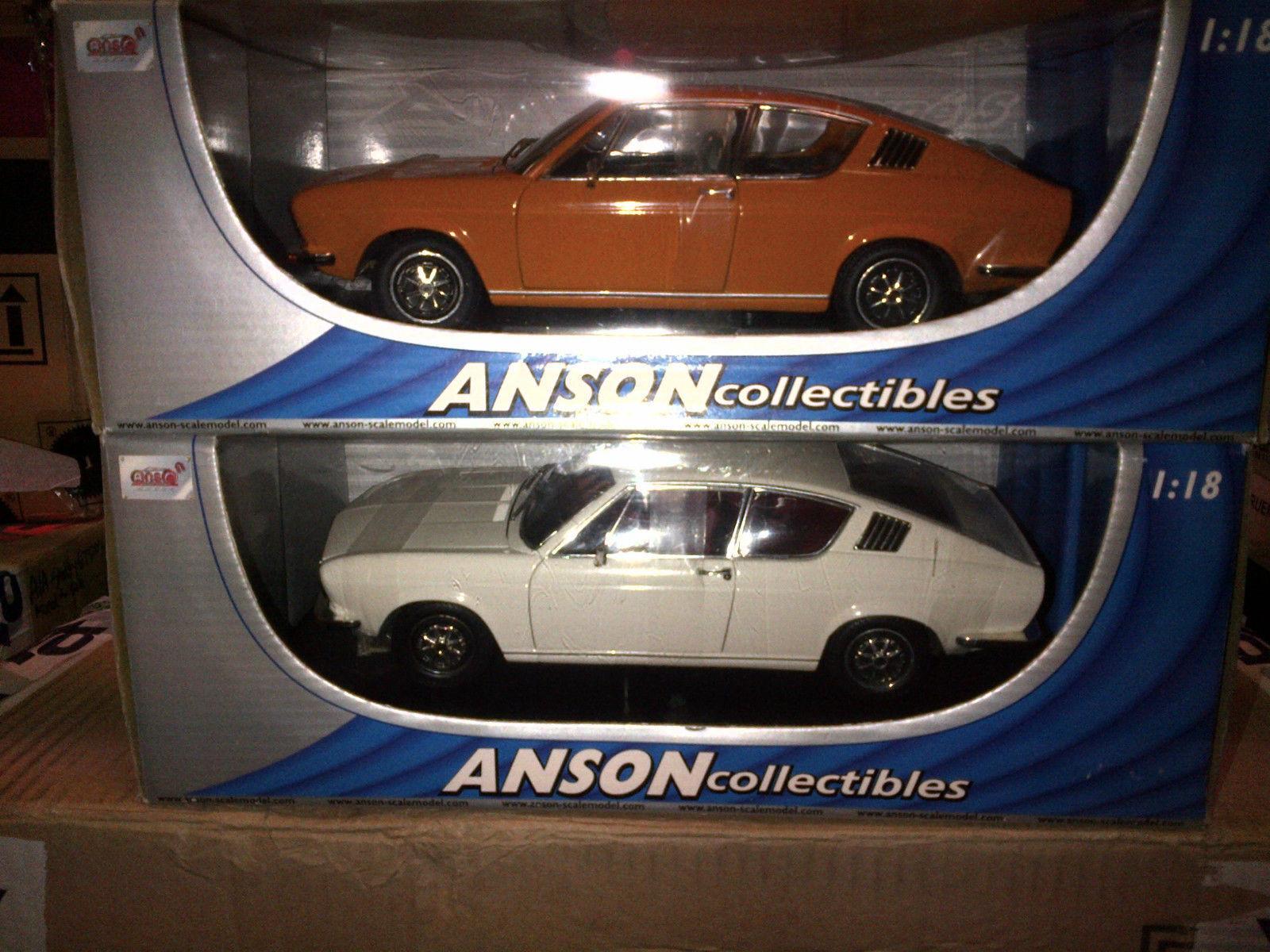 Lot de 2 modèlesi 100 Coupé S Orange & Blanc ANSON 1 18 Brand New in Box