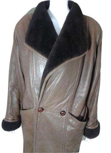 Overcoat Størrelse Læder Frakke La Brun Medium Kvinder Redoute 8wBq1g